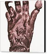 Mythological Hand Canvas Print by Photo Researchers