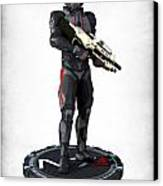 N7 Soldier V2 Canvas Print by Frederico Borges