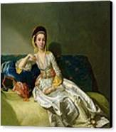 Nancy Parsons In Turkish Dress Canvas Print by George Willison