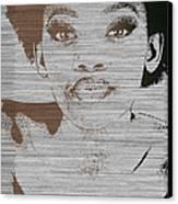 Natasha Brown Canvas Print by Naxart Studio