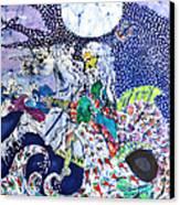 Neptune Rides The Sea Canvas Print by Carol Law Conklin
