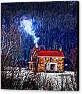 Nestled In For The Winter Canvas Print by Randall Branham