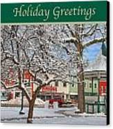 New England Christmas Canvas Print by Joann Vitali