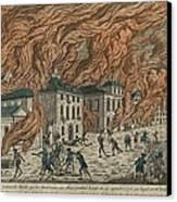 New York City Fire Of September 21-22 Canvas Print by Everett