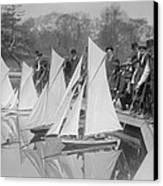 New York City, Start Of Toy Yacht Race Canvas Print by Everett