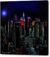 New York Midnight Canvas Print by Stefan Kuhn
