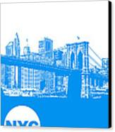 New York Poster Canvas Print by Naxart Studio