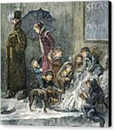 New York: Poverty, 1876 Canvas Print by Granger