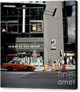 New York Street Canvas Print by Alessandro Uggeri