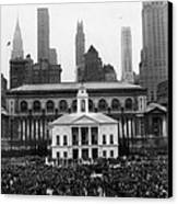 New Yorks Observance Of George Canvas Print by Everett