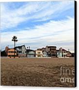 Newport Beach Oceanfront Houses Canvas Print by Paul Velgos