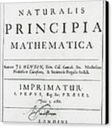 Newtons Principia, Title Page Canvas Print by Science Source