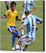Neymar Doing His Thing IIi Canvas Print by Lee Dos Santos