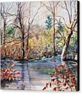 Nezinscot Fall Canvas Print by Geoffrey Workman