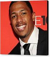Nick Cannon At Arrivals For Time 100 Canvas Print by Everett