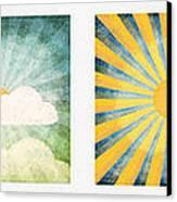 Night And Day  Canvas Print by Setsiri Silapasuwanchai