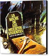 Night Of The Living Dead, Spanish Canvas Print by Everett