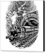 Night Train, Artwork Canvas Print by Bill Sanderson