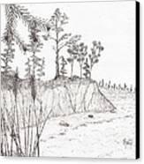 North Shore Memory... - Sketch Canvas Print by Robert Meszaros