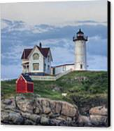 Nubble Light At Dusk Canvas Print by Eric Gendron