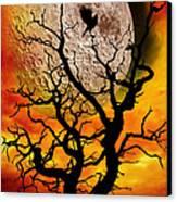 Nuclear Moonrise Canvas Print by Meirion Matthias