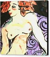 Nude Redhead Canvas Print by Patricia Lazar