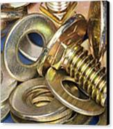 Nuts Bolts And Washers Canvas Print by Shannon Fagan