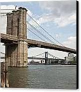 Ny Bridges 1 Canvas Print by Art Ferrier