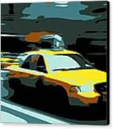 Nyc Taxi Color 6 Canvas Print by Scott Kelley
