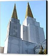Oakland California Temple . The Church Of Jesus Christ Of Latter-day Saints . 7d11360 Canvas Print by Wingsdomain Art and Photography