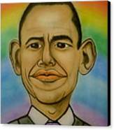 Obama Rainbow Canvas Print by Pete Maier
