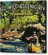 Obed Wild Scenic River Tennessee  Canvas Print by Flo Karp