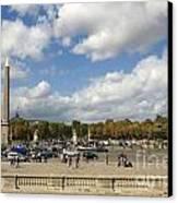 Obelisque Place De La Concorde. Paris. France Canvas Print by Bernard Jaubert