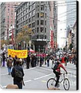 Occupy Sf . 7d9733 Canvas Print by Wingsdomain Art and Photography
