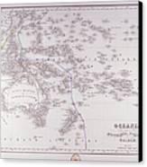 Oceania (australia, Polynesia, And Malaysia) Canvas Print by Fototeca Storica Nazionale