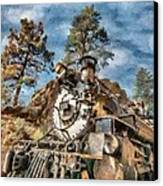 Of Mountain And Machine Canvas Print by Jeff Kolker