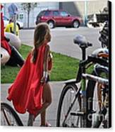 Off To Save The World- Back By Naptime Canvas Print by Anjanette Douglas
