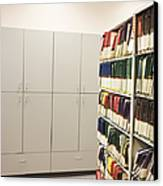 Office Cabinets And Colorful Files Canvas Print by Jetta Productions, Inc
