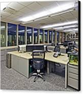 Office Work Stations Canvas Print by Francis Zera
