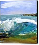 Ogunquit Beach Wave Canvas Print by Scott Nelson