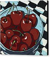 Oh So Sweet - Linocut Print Canvas Print by Annie Laurie