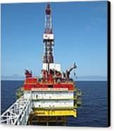 Oil Production Rig, Baltic Sea Canvas Print by Ria Novosti