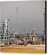 Oil Refinery Canvas Print by Carlos Caetano