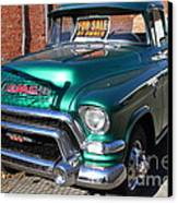 Old American Gmc Truck . 7d10665 Canvas Print by Wingsdomain Art and Photography