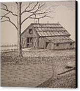 Old Barn2 Canvas Print by William Deering