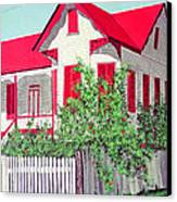 Old Belizean Home Canvas Print by John Westerhold