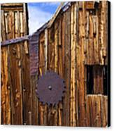 Old Building Bodie Ghost Town Canvas Print by Garry Gay
