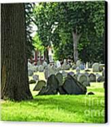 Old Cemetery In Boston Canvas Print by Elena Elisseeva