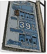 Old Full Service Gas Station Sign Canvas Print by Samuel Sheats