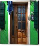 Old Italian Door Canvas Print by Joana Kruse